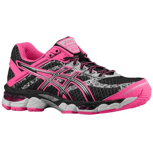 women 39 s asics gel cumulus 15 lite show running shoes black pink nib ebay. Black Bedroom Furniture Sets. Home Design Ideas