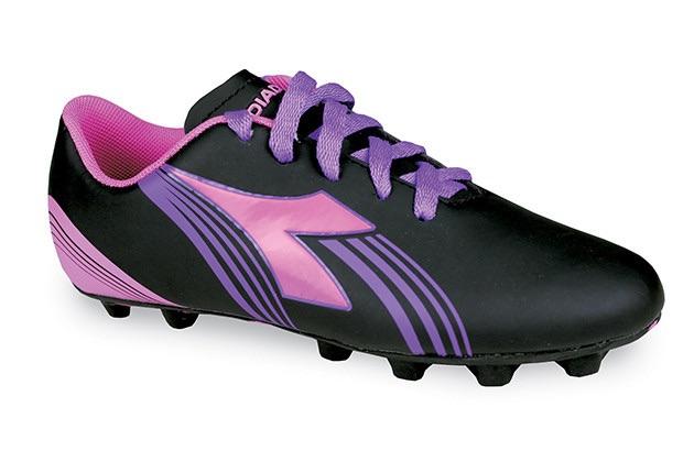 NEW Girls DIADORA FURIA MD JR Pink Charcoal Soccer Cleats Size 5.5